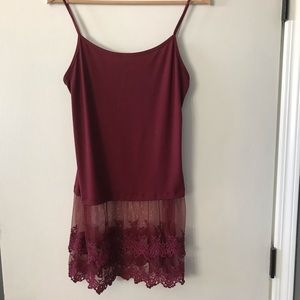 Tops - 2/$15 or 3/$20 Burgundy lace layering camisole